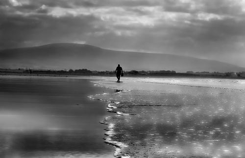 An evening stroll on Strandhill beach, Sligo