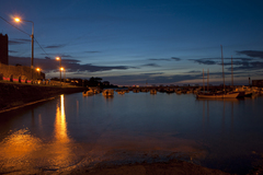 Evening sunset in Dalkey Harbour