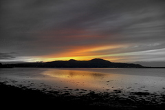 Dawn over Howth Head mixed