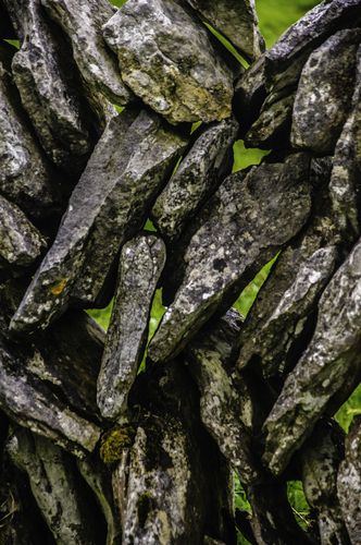 Stone wall in the Burren national park