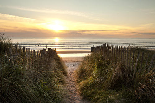 Doughmore beach Doonbeg Co Clare is a haven for surfers and has a wonderful golf club