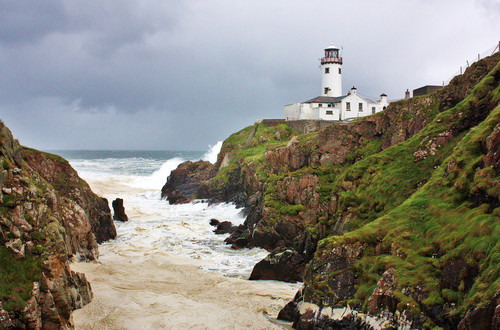 Fanad Lighthouse on a stormy afternoon.