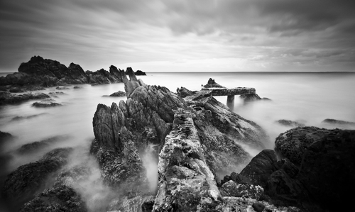 A long exposure taken just outside Greencastle @ Shroove  in inishowen,Donegal