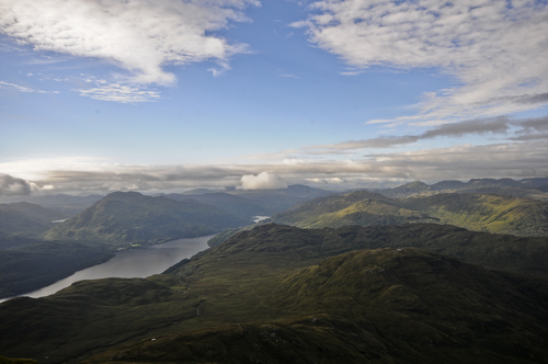 From the top of Ben Lomond over looking Loch Lomond