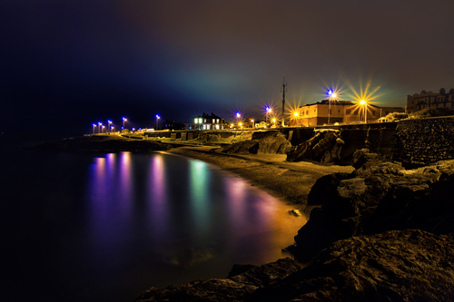 night time in greystones