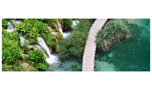 Plitivice lakes in Croatia has an amazing clear water and a variation of green color