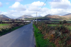 "A view of the Mountains of Mourne from the road that takes the visitor on the 'High Mournes Scenic Route""."