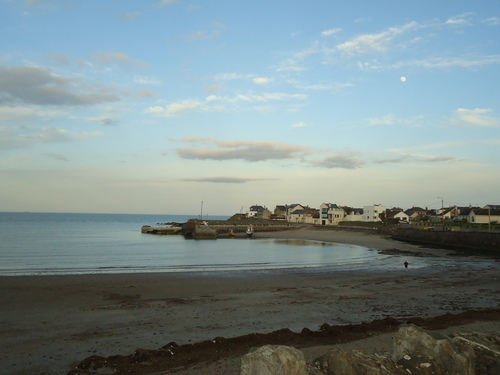Rush Harbour with spring moon
