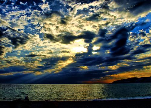 A dramatic cloudy sky on the south coast of Spain