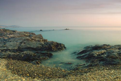 Long exposure at the beach, shot at New Year