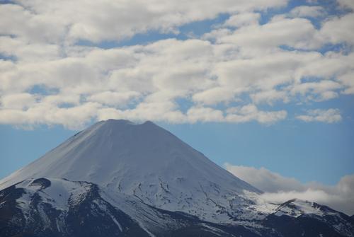 A distinct volcano on the North Island.