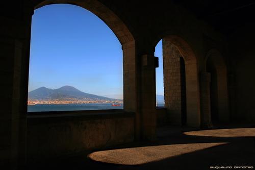 "Vesuvius view from ""Castel dell'Ovo"" - Naples (Italy)"