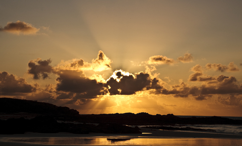 Sunset over Ballyliffin Beach, Co Donegal.