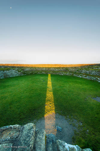 Sunrise at the Grianan of Aileach on the Autumn Equinox.