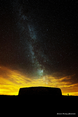 The Milky Way over Grianan of Aileach.