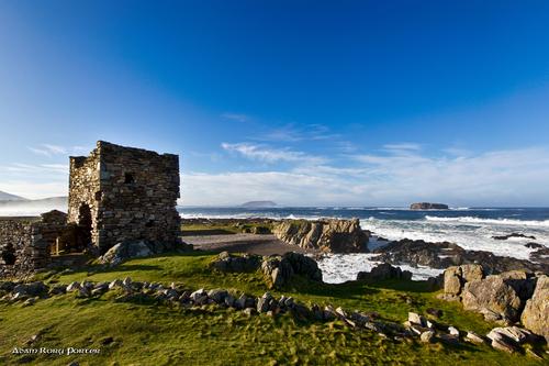 Carrickabraghy Castle, Isle of Doagh, Inishowen.