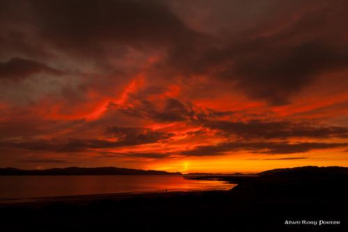 Buncrana Pier Sunset, Buncrana, Inishowen.