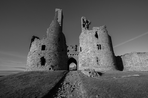 Iconic castle ruin, once one of the largest and grandest fortifications in Northern England.