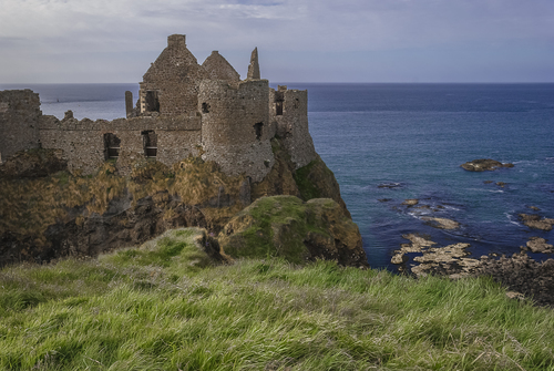 Dunluce Castle, late on a May afternoon.