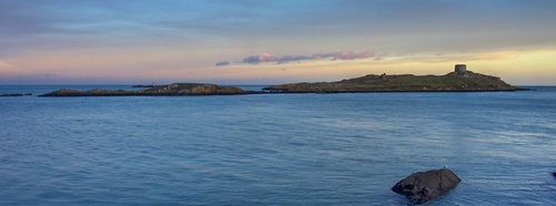 Dalkey Island at twilight, late December 2013