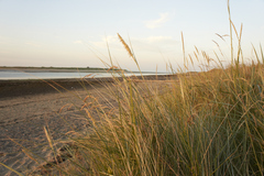 View over Malahide Estuary facing away from impending sunset summer 2013
