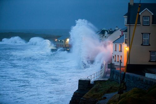 This pic was taken on the 7th Jan 2014, at Lahinch, Co Clare, during the storm