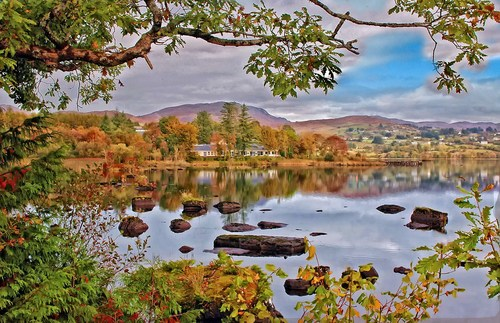 A cool Autumn evening at Lough Eske, County Donegal.