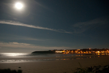 A bright moon over the village of Ardmore.