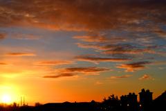 Morning sun rise in North Dublin