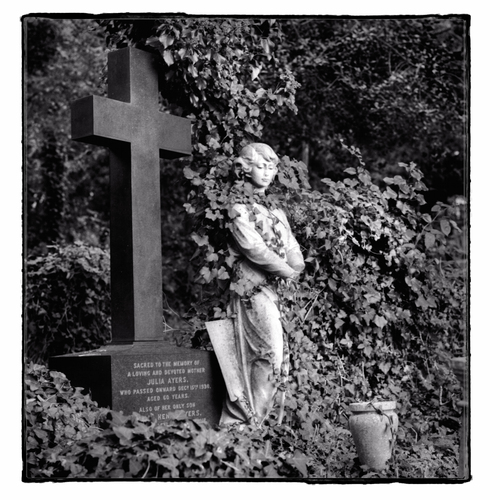 A memorial In Highgate cemetery in London