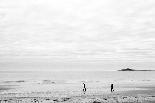 The South Strand, Skerries, Co. Dublin with Shenick Island in the background