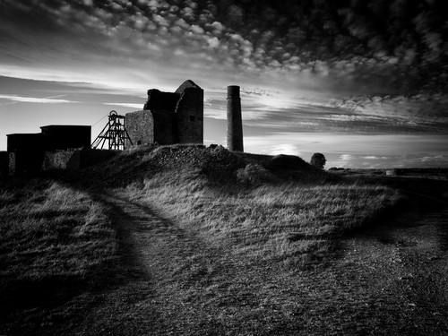 Close by the small Derbyshire village of Sheldon are the ruins of the 19th century lead mine.