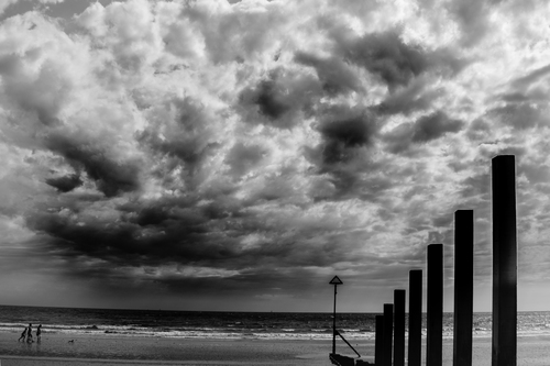 Dark clouds in East Wittering