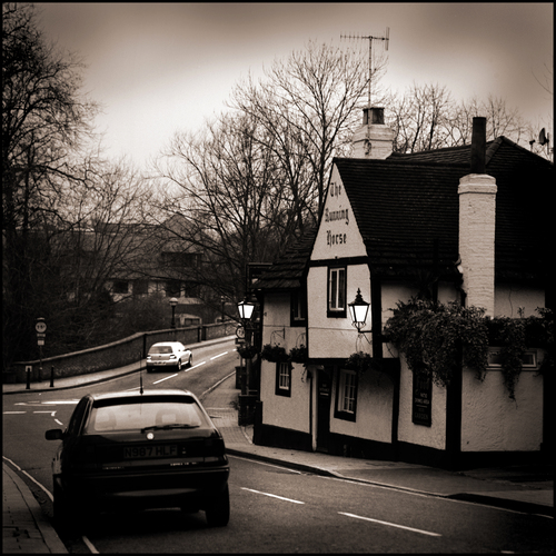 Pub next to River Mole, Leatherhead, Surrey