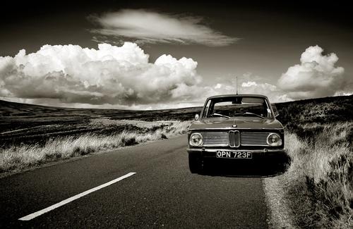 A classic BMW in a classic Wicklow landscape.