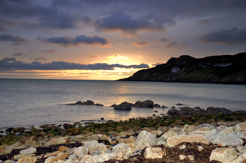 Dawn at Balscadden beach, Howth, Co. Dublin, Ireland at about 7am on an October morning.