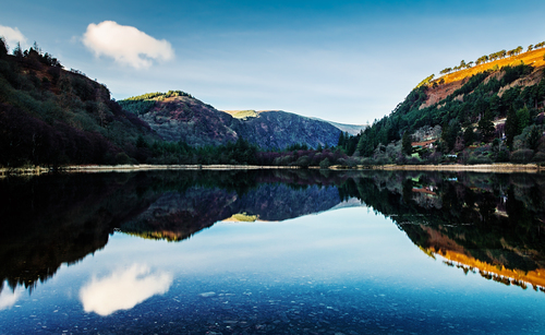 view of the lake at Glendalough