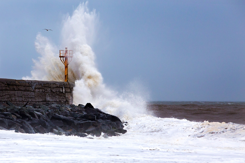 Stormy Irish sea