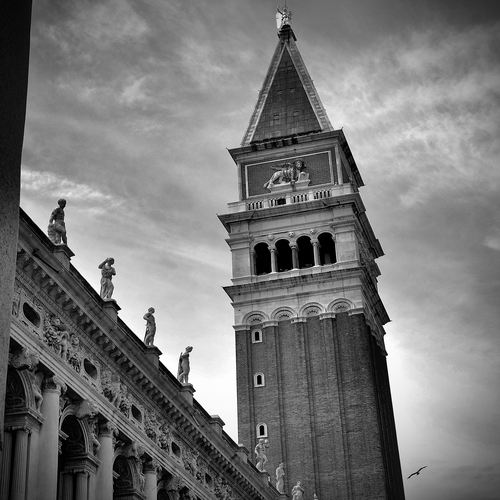 The bell tower of St.Mark's basilica.