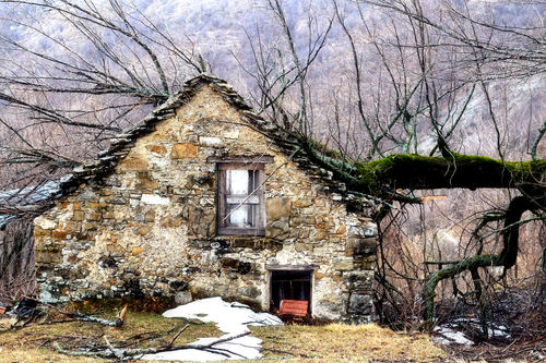 Abandoned rural building near the village of Chiappa, Valbrevenna, Genoa
