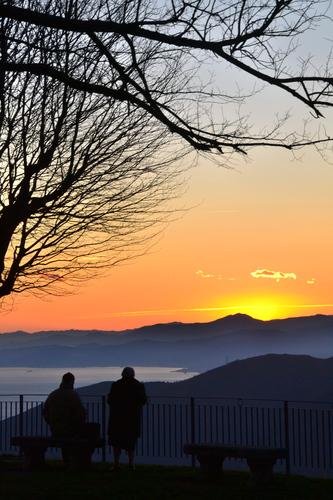 Sunset from the Nostra Signora della Guardia Sanctuary.