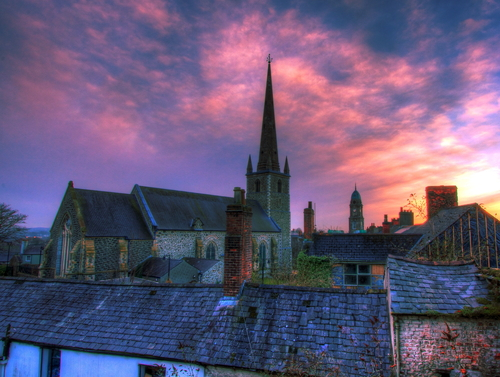 Sunset across the Historic Quarter of Lisburn
