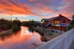 Sunset across the River Lagan in Lisburn