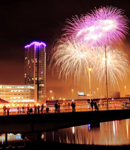 Fireworks at Halloween in Belfast