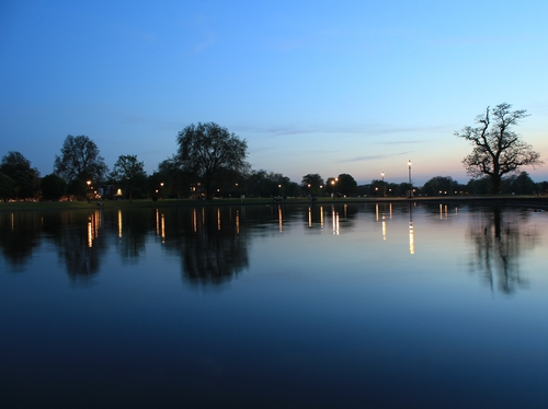 A view of the Clapham Common pond at dusk. One of the many beautiful get-aways for the country lover living on the South Side of the Thames.