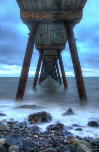 jetty near whitehead/carrickfergus