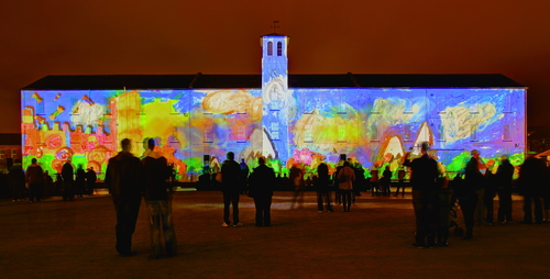 Ebrington Square in Derry during Lumiere