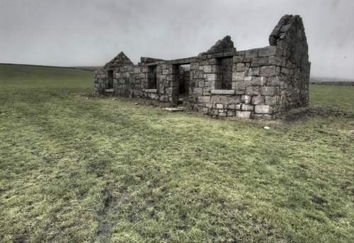 A ruined cottage in the Mourne Mountains