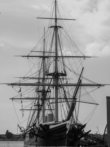 A ship in Portsmouth Harbor