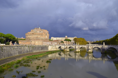 Castel S. Angelo on the river Tiber in Rome